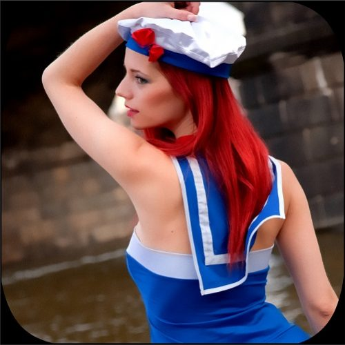 Chloe Dresses As A Little Sailor!
