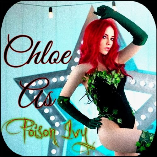 Young Chloe Cosplays As Poison Ivy